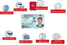 MyKad / Malaysia high-tech identity card.