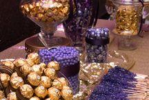 Purple candies