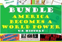 TpT 3-America Becomes a World Power - U.S. History Teaching Strategies / U.S. Imperialism and World War I on the Home Front Lesson plans for the secondary classroom.  https://www.teacherspayteachers.com/Store/Chalk-Dust-Diva
