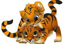 Clip Art/ Tigris