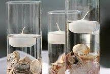 Candele centrotavola / Il centrotavola è l'elemento più importante per chi ama decorare la propria tavola. Le candele galleggiante, a mio avviso, è perfetta per rendere unica la vostra tavola.