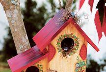 Birdhouse,bird feeder & birdbath