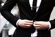 Men's black suits