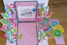 """Handmade Cards at Etsy by StudioKathryn / Homemade greeting cards and paper creations made for you!  Each card has it's own personality--some explode, others shout """"Happy Birthday"""" -- others are thoughtful and thankful."""