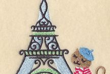 Eiffel Tower Machine Embroidery Designs