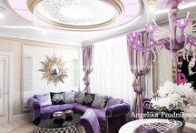 Интерьер квартиры в стиле ар-нуво в ЖК «Авеню-77» / Интерьер выполнен в стиле ар-нуво для квартиры в ЖК «Авеню-77». В дизайне присутствуют интересные и притягательные цвета, такие как лиловый, лазурный и красный. Направление ар-нуво выдержанно во всех помещениях дома и придаёт квартире индивидуальность. Все элементы декора подчёркивают этот изысканный стиль.