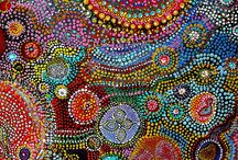E ncaustic art ideas / Aboriginal art abstract circular dot design love it