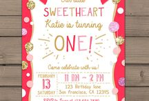 Sweetheart birthday party ideas