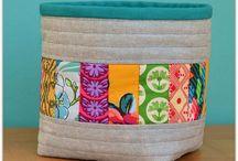 Текстильные коробочки, корзинки
