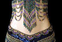Bellydance Costume / Вышитые бисером костюмы