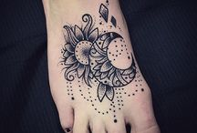 sun moon tattoos