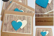 Karten Hochzeit / Liebe
