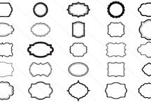 Silhouette Frames Vector / Best set of Silhouette frames for your design vector gallery. Different designs may need different kinds of vector frames in order to decorate the designs using circular, rectangular borders and many more.