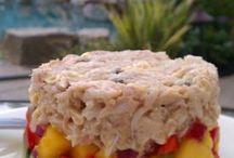 Crab mango avacado stach