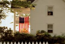 Red White Blue Decorating VINTAGE!  (And a few summer decorating ideas)