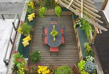 Up on the Roof / Roof Gardens and top of roof decorating / use ideas.