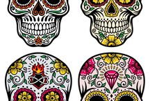 Calavera, skull, dark, fantasy