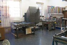 Studio Dreaming / Screen printing studio inspiration