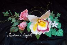 sugar paste flowers / Fiori di pasta di zucchero
