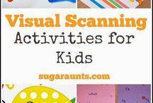 Visual scanning activities