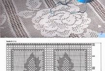 Crochet bedspreads and tablecloths