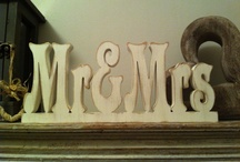 Love & Marriage by Debbie Dilly / Hand Painted Wooden Letters - all my own work! Lots of colours and styles to choose from.
