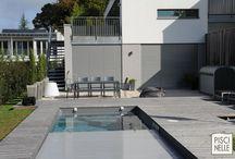 Reportage photo couloir de nage contemporain / Découvrez le reportage complet d'une réalisation Piscinelle. Un couloir de nage au design contemporain.