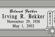 Individual Granite Headstone Designs / Granite headstones from http://www.thecasketstore.com are fully custom designed. Talented graphic designers will create exactly the marker you want.