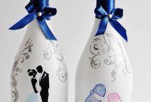 Свадебное шампанское / Свадебные аксессуары
