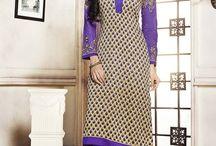 Embroidered Pashmina Churidar Salwar Suits / Feel the purity of embroidered pure pashmina churidar salwar suits at http://www.fashionfiza.com/salwar-kameez?catalog=950