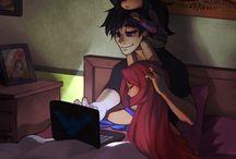 Starfire and Robin