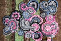Freeform crochet elements