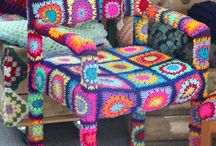 CROCHET furniture - why not :-) & other ideas