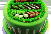 zöldséges kert torták