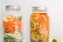 Spiralizer Recipes / Recipes using spiral cut veggies and fruit