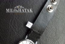 luxury black leather strap watch / Luxury black leather strap watsch. 100 % Hand Made, 100% Quality. Luxurious Design.