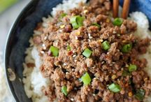 food: ground beef ideas / by Christy Wynkoop