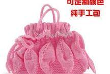 Handmade bags knits