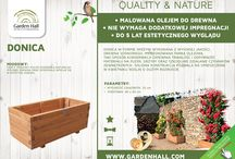 Donice i kwietniki / Drewniane donice i kwietniki, które ozdobią Twój ogród!