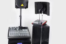 Nagłośnienie / mikrofony, miksery, kina domowe, zestawy karaoke, procesory, końcówki mocy ...