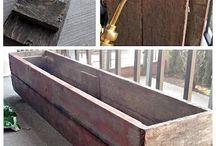 donice drewniane