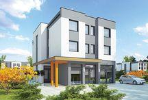 Budynki komercyjno - mieszkalne