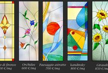 vetrate finte / faux stained glass