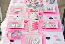 happy party! / party ideas and decor, garlands, fringes, balloons, cake, surprises