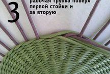 плетение из газетных трубочек