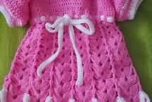 VESTIDOS Y PELELES BEBE LANA / vestido de lana bebe   4 a 6 meses