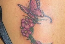 Flower and Butterfly Tattoos