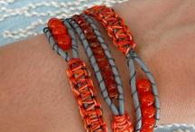 Macramê / Inspirações para trabalhos de macramê, pulseiras colares barras