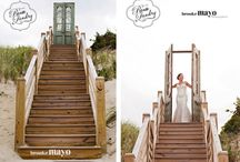 RLE Real Wedding: Lindsay & Tim / OBX real beach wedding, event design by Renee Landry Events. Pictures by Brooke Mayo Photographers