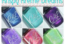 Colors by llarowe Krispy Kreme Dreams / Krispy Kremes give Leah Ann wild dreams. This 6 colour collection (note the names) is a result of her donut binge!